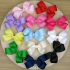 Flower Satin Bow Ribbon Baby Girls Hair Clips Pins Hair Accessories Decor