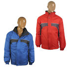 Mens Classic Windbreaker Showerproof Jacket Coat Top Casual Winter Padded