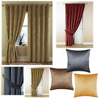 Textured Soft Velour Ring Top Curtains 5 Colours - NOW £10, £15 & £20 A PAIR