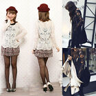 Womens Sheer Sleeve Embroidery Floral Lace Crochet Tee T-Shirt Top Blouse S-XL