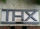"Movie Theatre Marquee Sign ""THX"" Black Letters/Trim on Clear"