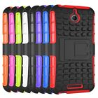 Hybrid Impact Armor Rugged Hard Case Stand Cover For HTC desire 510