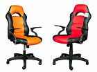 Brand new black with red or orange PU leather sporty computer/game chair