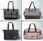 Allis Baby Luxury Nappy Changing Bag Set Diaper Bag Grey Beige Red Brown Blue
