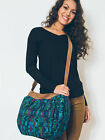 Ash & Rose Altiplano Huipile & Leather Tote Bag Embroidered Tapestry teal pink