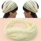 New Fashion Chic Bandanas Lace Head Wraps Women Lady Girls Wide Headband Gift U1