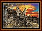 WOLF COUNTRY -  14 COUNT CROSS STITCH CHART (DMC THREADS) FREE PP WORLDWIDE
