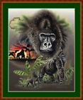 AFRICAN GORILLAS -  14 COUNT CROSS STITCH CHART (DMC THREADS) FREE PP WORLDWIDE