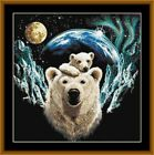 ARCTIC LOVE -  14 COUNT X STITCH CHART (DMC THREADS) FREE PP WORLDWIDE