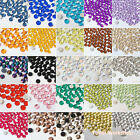1000pcs 1-20mm Colors & Clear Acrylic Flatback Rhinestone Scrapbooking Nail Gems