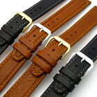 'Bermuda' Flat Leather Watch Strap Band Super Quality by CONDOR 18mm 068R