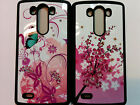 Floral Design Snap On Skin Case Fitted Back Cover Shield Protector for LG G3