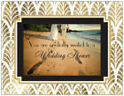 20  Walk With Me on the BEACH WEDDING SHOWER Flat CARDS & Env Invitations