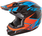 Fly Racing Kinetic Impulse Blue Black Orange Youth S-L & Adult XS-2X MX Helmet