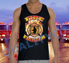 New FIREFIGHTER Black Tank Top American Hero Fire Fighter Rescue EMS USA Tee