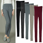 AnnaKastle Womens Ladies Ribbed Knit Leggings Stretch and Soft size S - M
