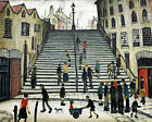 Lowry Steps at Wick Stretched Canvas Multi Size Wall Art Poster Print Painting