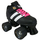 Riedell Volt Roller Skates - Quad Speed Skates - with 2 pr Laces - White & Pink