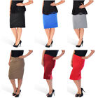 New Womens Plus Size Skirt Pencil Bodycon Stretch Elastic Waist Thick Nouvelle