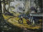 "MH169 Vintage Trike Bike Michael Humphries 12""x16"" framed or unframed print"