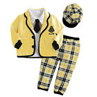 New Boys Outfits Hat+Tie+Shirts+Jacket+Pants Gentleman Baby 5 Pieces Sets FT968