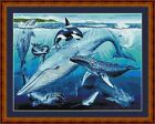 WHALES OF THE WORLD - 14 COUNT X STITCH CHART (DMC THREADS) FREE PP WORLDWIDE