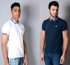 Mens New Designer Voi Jeans Casual Polo T Shirt Pique Tartan Collar Tee Top Dean
