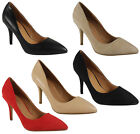 NEW WOMENS LADIES HIGH STILETTO HEEL POINTY PARTY GOING OUT WORK SHOES SIZE 3-8