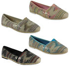 NEW WOMENS LADIES SKATER WARM COMFY SEQUIN CASUAL WORK FASHION SHOES PUMPS SIZE