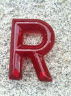 "Theater Marquee Letters-6"" Tall Translucent Red-Snap Lok Plastic Letters"
