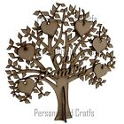 MDF Our Family Free Standing Tree Shape Memory Tree Craft, Embellishment