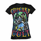 CUPCAKE CULT LADIES OZZ T SHIRT BLACK WIZARD OF OZ DOROTHY GOTHIC WITCH LION