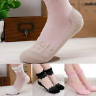 Soft Women Ladies Elastic Short Stocking Breathable Lace Trim Ankle Socks