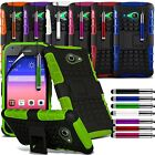 Dual Layer Shock Proof Rugged Stand Builders Hard Case fits Huawei Ascend Y550