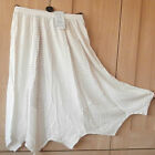 SALOOS COLLECTION SKIRT~IVORY / PALE CREAM ~ BOHO STYLE ~STRIPES~ M/L/XL~ 18006