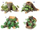 Tree Roots with Silk Plants or Roots with Vase Cave Aquarium Terrarium Ornament