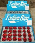 FAKE RED RUBY OR CLEAR DIAMOND RING EXTRA LARGE ADUSTABLE SIZE COSTUME JEWELRY