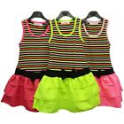Girls Two In One Look Dress Stripe Top Bow Trim Skirt Holiday Sundress Last Few