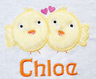 NEW PERSONALISED ANY NAME EASTER LOVE CHICKS BIB BOY GIRL BABY GIFT SET RABBIT