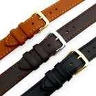 Flat Calf Leather Watch Strap Band Choice of 3 Colours 16mm 18mm 20mm D008