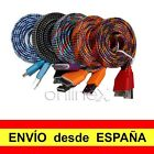 Cable USB a Dock 30 pins 1m iPod iPad iPhone Nylon Trenzado Colores nt