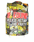 IF FOUND RETURN TO PARTY DESIGN WAISTCOAT FUN FANCY FOR ALL OCCASIONS L&S PRINTS