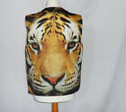 TIGER FACE DESIGN WAISTCOAT FUN FANCY FOR ALL OCCASIONS L&S PRINTS