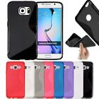 New S-Line Soft Silicon Gel Case For Samsung Galaxy S6 + Free Screen Protector