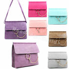 New Ladies Multi Pocket Flap Briefcase Large Satchel With Chain