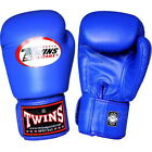 Twins Muay Thai Boxing Gloves Velcro Leather Kick Boxing MMA Genuine Leather