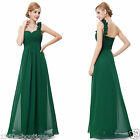 Flower One Shoulder Long Bridesmaid Wedding Prom Party Evening Dress UK NO30