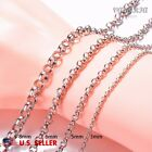 VALYRIA Men's Women's Stainless Steel Necklace Rolo Chain  22''-26'' 3-8mm USA