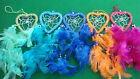 DREAM CATCHERS SMALL HEART BEADED,  IN 5 COLOURS, CHEAPEST ON EBAY