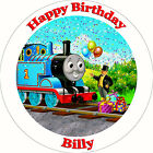 Edible Personalised Thomas Tank Engine Cupcake Party Wafer Cake Toppers